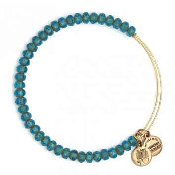 Aqua Luminary Beaded Bangle