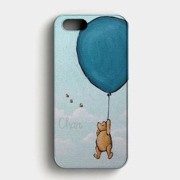 Winnie The Pooh Balloon Fly In Sky iPhone SE Case
