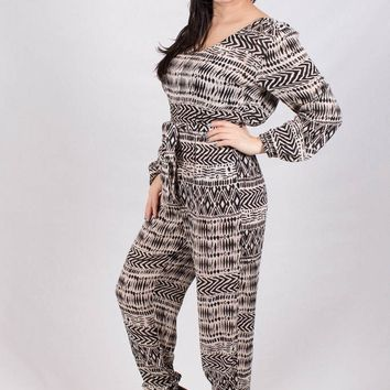 Woven Jumpsuit with Unique Print