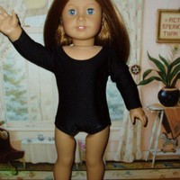 Basic Black Leotard 18 doll clothes fits American Girl Handmade | TracysDesigns1 - Dolls & Miniatures on ArtFire
