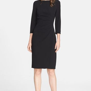 Women's Max Mara 'Satira' Three-Quarter Sleeve Cady Dress,