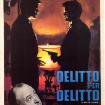 Strangers On A Train Italian movie poster Sign 8in x 12in