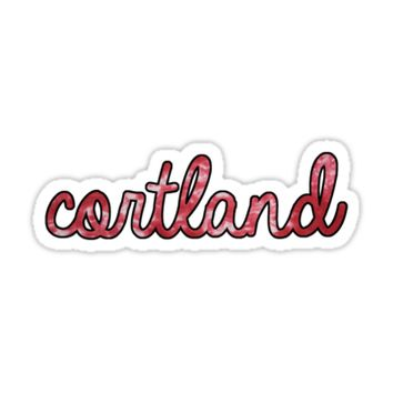 'Cortland Tie Dye' Sticker by Kt Farello Designs