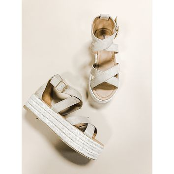Layla Taupe Espadrille Wedge Sandals