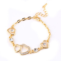 Gift Great Deal Stylish Shiny New Arrival Awesome Hot Sale Heart Chain Ring Accessory Bracelet [6057246849]