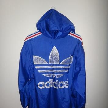 New Year Sale ADIDAS Windbreaker Hooded Vintage Made in Japan Hip Hop Jacket Street we