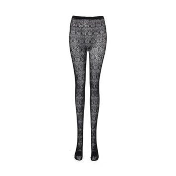 Grey Tights with Cut-out Detail
