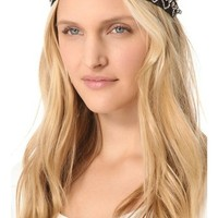 Deepa Gurnani Patterned Rhinestone Headband | SHOPBOP
