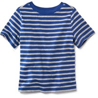 Old Navy Striped Short Sleeve Crew For Baby