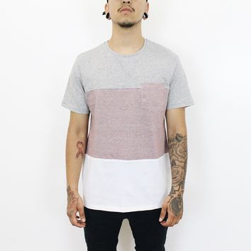 Dustin Multicolor Tshirt (Burgundy/Grey)