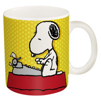 Set of 2 Classic Peanuts Coffee Mugs. Snoopy and Woodstock.