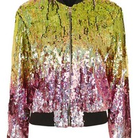 Ombre Sequin Bomber Jacket - New In This Week - New In
