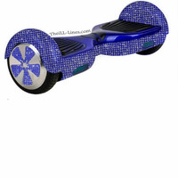 Custom Segway, Crystal Segway, Bedazzled Segway, Blue Hover Board, Custom Hover Board, Bling Hoverboard,Rhinestone Hover board,Segway