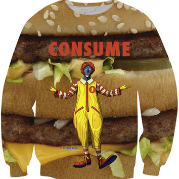 THE CLOWN PRINCE OF FAST FOOD BURGERS - SWEATSHIRT