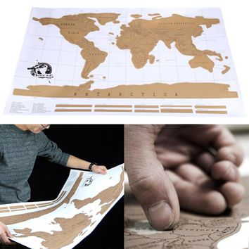 Travel Scratch Off Map Personalized World Map Poster Traveler Vacation Log National Geographic Wall Sticker Luxury Home Decor