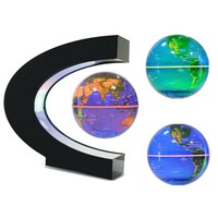 LED Magnetic Rotating Globe Floating Levitating Earth Gold Touch Changing Colors Christmas Gift