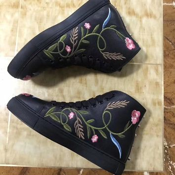 GUCCI fashion casual shoes FLOWER
