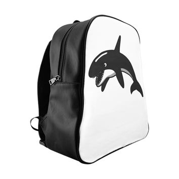 Killer Whale Orca School Backpack