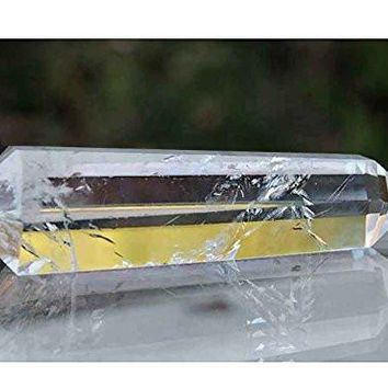 6 Sided Prism Natural Quartz Crystal Double Terminated Point - Quartz Crystal