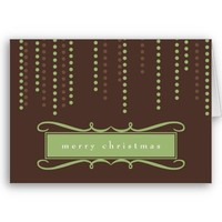 Brown chic icicles Christmas holiday business logo Cards from Zazzle.com