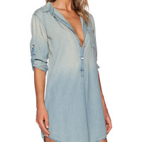 Toby Long Sleeve Denim Dress in 70's Fade