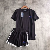 """FILA"" Print Short sleeve Top Shorts Sweatpants Set Two-Piece Sportswea"