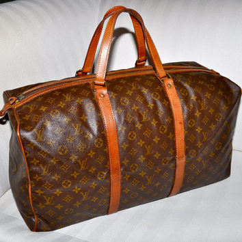 Make an Offer LOUIS VUITTON Keepall 55 Sac Souple Duffel Bag Large Size LV Monogram Travel Carry On Tote Unisex Guaranteed Authentic Vintage