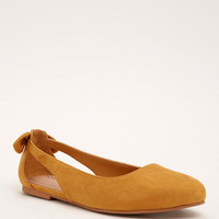 Cutout Bow Back Flats (Wide Width)