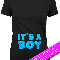 Pregnancy Announcement Shirt Maternity Clothes Pregnancy Tops Gifts For Expecting Mothers It's A Boy New Baby Boy Gift Ladies Tee MAT-659