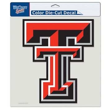 "TEXAS TECH RED RAIDERS LOGO 8""X8"" COLOR DIE CUT DECAL BRAND NEW WINCRAFT"
