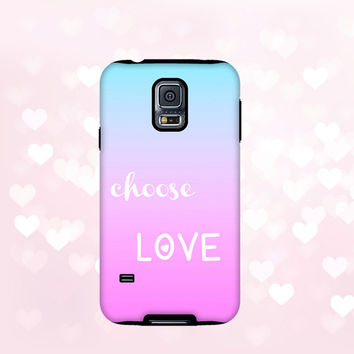 Ombre iPhone 6 Case pink iPhone 6 tough case, chic iPhone 5S, iPhone Case, iPhone 5C Case, Samsung Galaxy cover fading colors choose love