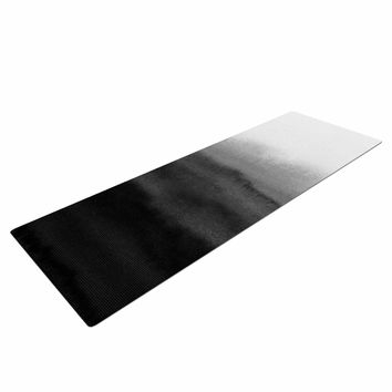 "Draper ""Ombre Ink Wash"" Gray Black Yoga Mat"