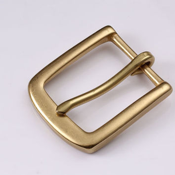 35mm Copper Free Single Prong Solid Brass Horseshoe Belt Buckle DIY Leathercraft Metal Accessories 432