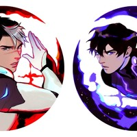Crecent Moon Shiro/Keith - 7cm keychains by sssspicy