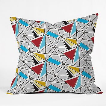 Karen Harris Shattered In Bauhaus Throw Pillow