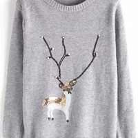 Grey Moose Sequined Pullover