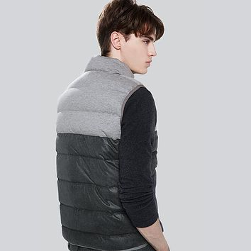 Seamless Down Vest Winter White Duck Down Vest Men Sleeveless Windproof Warm Waistcoat