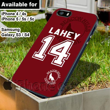 Teen Wolf Isaac Lahey lacrosse jersey for iPhone 4 / 4s / 5 / 5s / 5c case, Samsung Galaxy S3 / S4 case