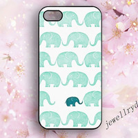 The Elephant iPhone 4 Case,Teal iPhone 4S Case,iPhone 5/5s Cover,baby Elephant iPhone 5c ,Animal samsung galaxy s5 case,best gift for Mother