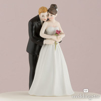 """""""Yes to the Rose"""" Bride and Groom Couple Figurine - Weddingstar"""