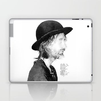 Thom Yorke Watercolor portrait by MrNobody Laptop & iPad Skin by Mrnobody
