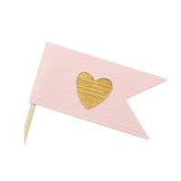 Pink and gold cupcake toppers / party picks