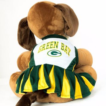 Green Bay Packers Dog Dress Cheerleader NFL Football Official Licensed Product