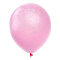 Latex Balloons Baby Shower, Its A Girl, 12-inch, 12-pack, Pink