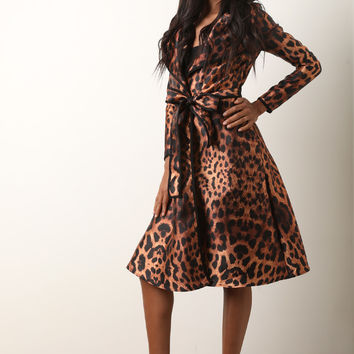 Cheetah Print Trench Coat | UrbanOG