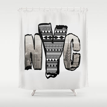 HIPSTER NYC  Shower Curtain by C Ya Monday