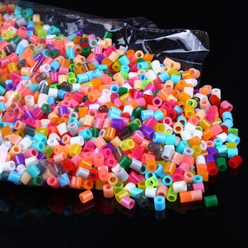 1000 Pcs /  Bag Random Colors Fuse Beads 5MM Ironing Beads Hama Beads Tangram Jigsaw  Boards Puzzle Gifts Supplementary