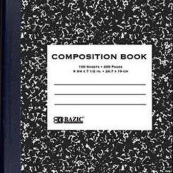 BAZIC Composition Notebook Wide Ruled - 100 Sheets Case Pack 48