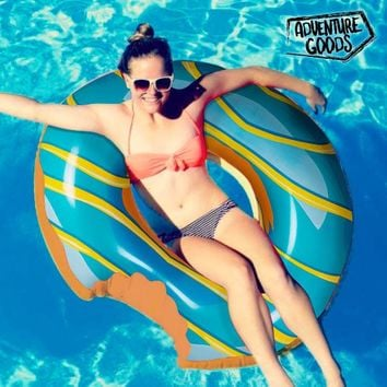 Adventure Goods Inflatable Blue Swim Ring