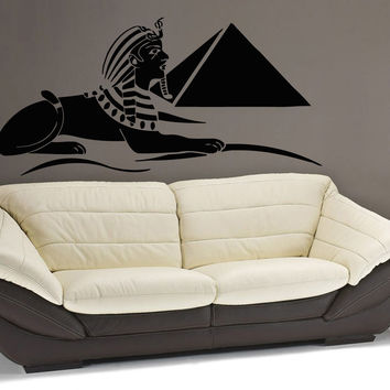Wall Decals Vinyl Decal Sticker Art Murals Decor Egypt Sphinx Pyramids Kj901